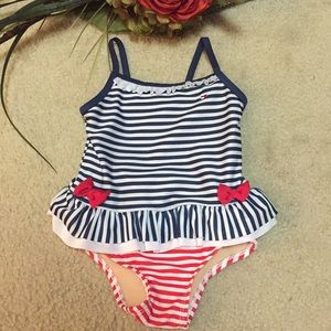 Swimsuit; red, white and blue